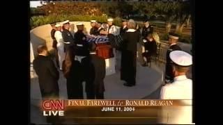 Private funeral of Ronald Reagan CNN live coverage 6-11-2004