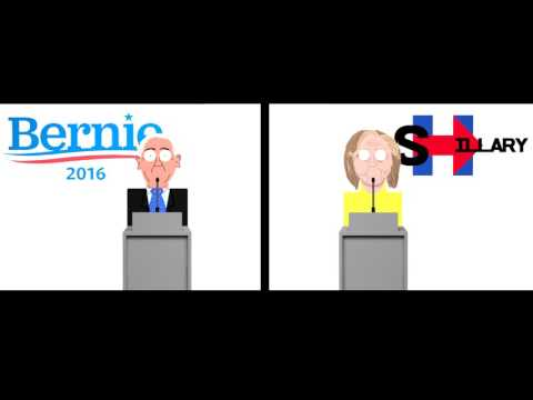 Bernie Sanders vs Hillary Clinton - Debate (Animated)