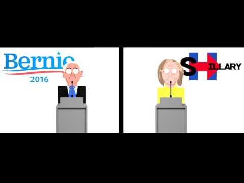 Bernie Sanders vs Hillary Clinton - Debate (Animated)