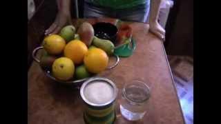 Грушевое варенье с лимоном и апельсином