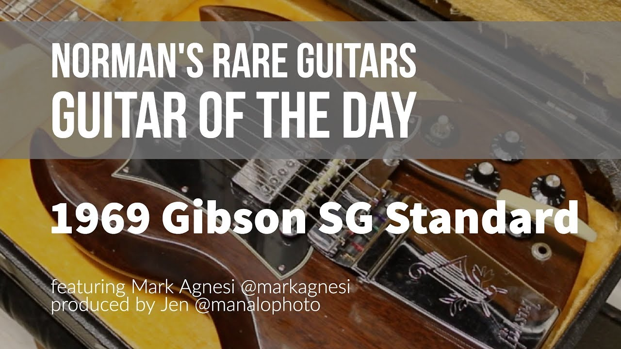 norman s rare guitars guitar of the day 1969 gibson sg standard