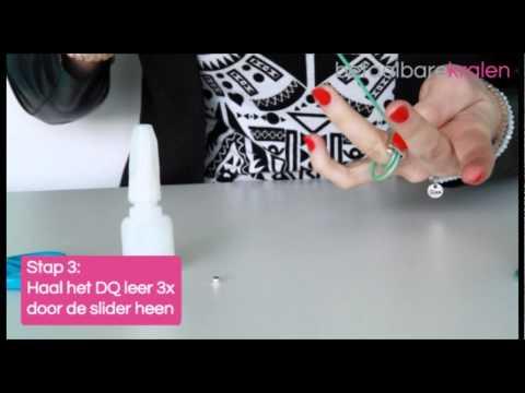 Sieraden maken: Hoe maakt u een ring van leer met een DQ metalen slider? ♡ DIY