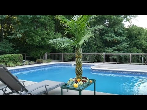 Pineapple Palm Tree Serving Tray