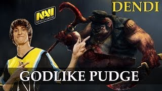 Na`Vi.Dendi Godlike Pudge vs Tongfu @ TI3 | Dota 2 Gameplay