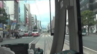 【前面展望】広島電鉄1号線(広島駅-八丁堀-市役所前-広島港) Hiroshima dentetsu(Hiroshima sta.-Hiroshima Port)