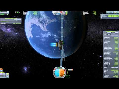 Unmanned space Program 1 - KSP -  Satellite relay network