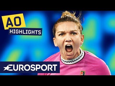 Simona Halep vs Kaia Kanepi Highlights | Australian Open 2019 Round 1 | Eurosport