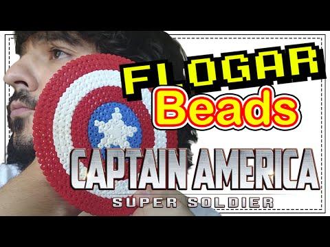 ESCUDO CAP. AMÉRICA - DIY- Tutorial Pearl/Hama Beads para Gamers - FloGar o.O