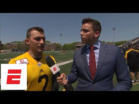 Johnny Manziel after practicing with Hamilton Tiger-Cats of CFL: 'I'm blessed' | ESPN