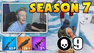 Tfue shows *NEW* BATTLE PASS and *FIRST* Game in Fortnite Season 7