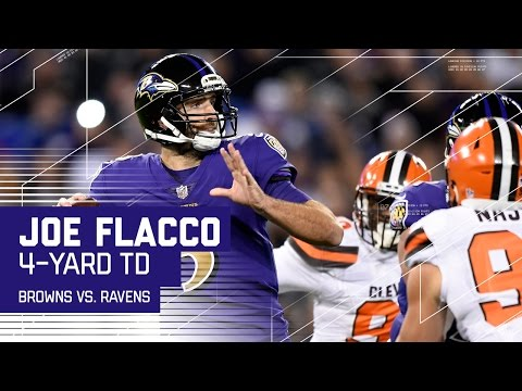 Joe Flacco Does a Mannequin Challenge After TD! | Browns vs. Ravens | NFL