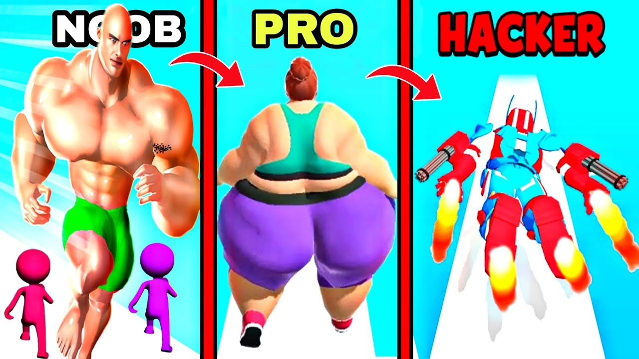 Noob Vs Pro Vs Hacker In Crushy Finger, Dna Evolution 3d