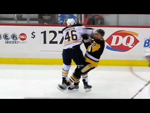 Franson flattens Dupuis with huge hit