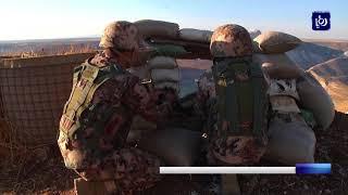 إصابة ثمانية أفراد من القوات المسلحة   الجيش العربي إثر تدهور مركبتهم - (23-9-2017)