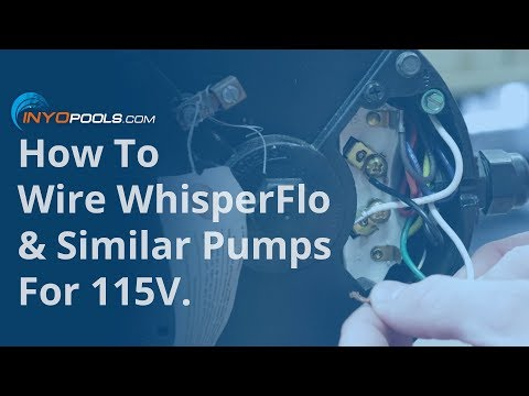 [GJFJ_338]  How To: Wire WhisperFlo & Similar Pumps For 115V - YouTube | Challenger Pool Pump Wiring Diagram |  | YouTube