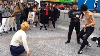 【神回】刺青男がエアギター中にラブライバー乱入!金髪ヤンキーも乱入でガチ喧嘩www