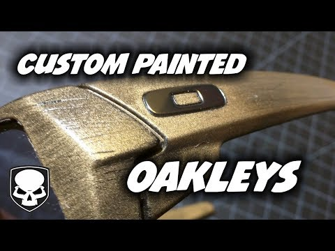 Custom Painted Oakleys - how to spray paint sunglasses