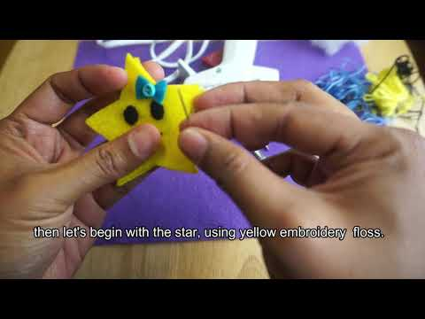 How To Make A Felt Star Hair Clip  DIY Hair Clip