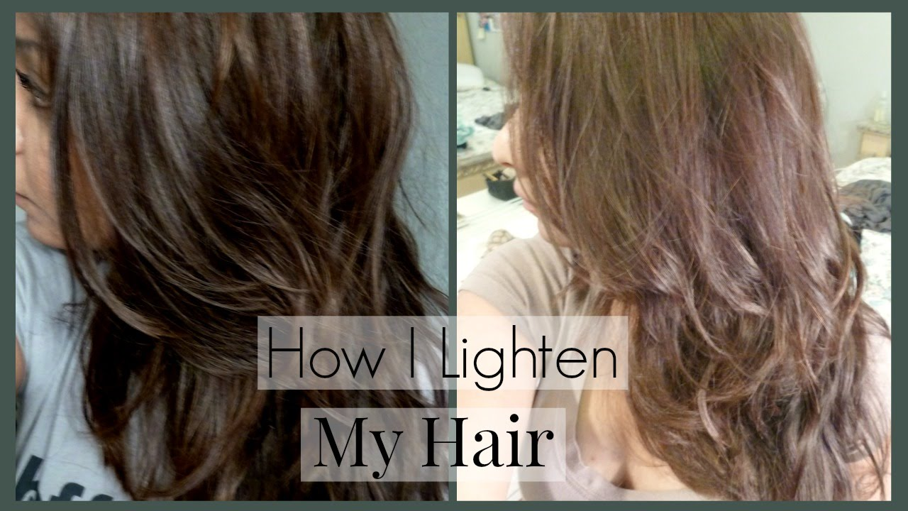 How I Lighten My Hair and Roots and Home │ How I Color My Hair to ...