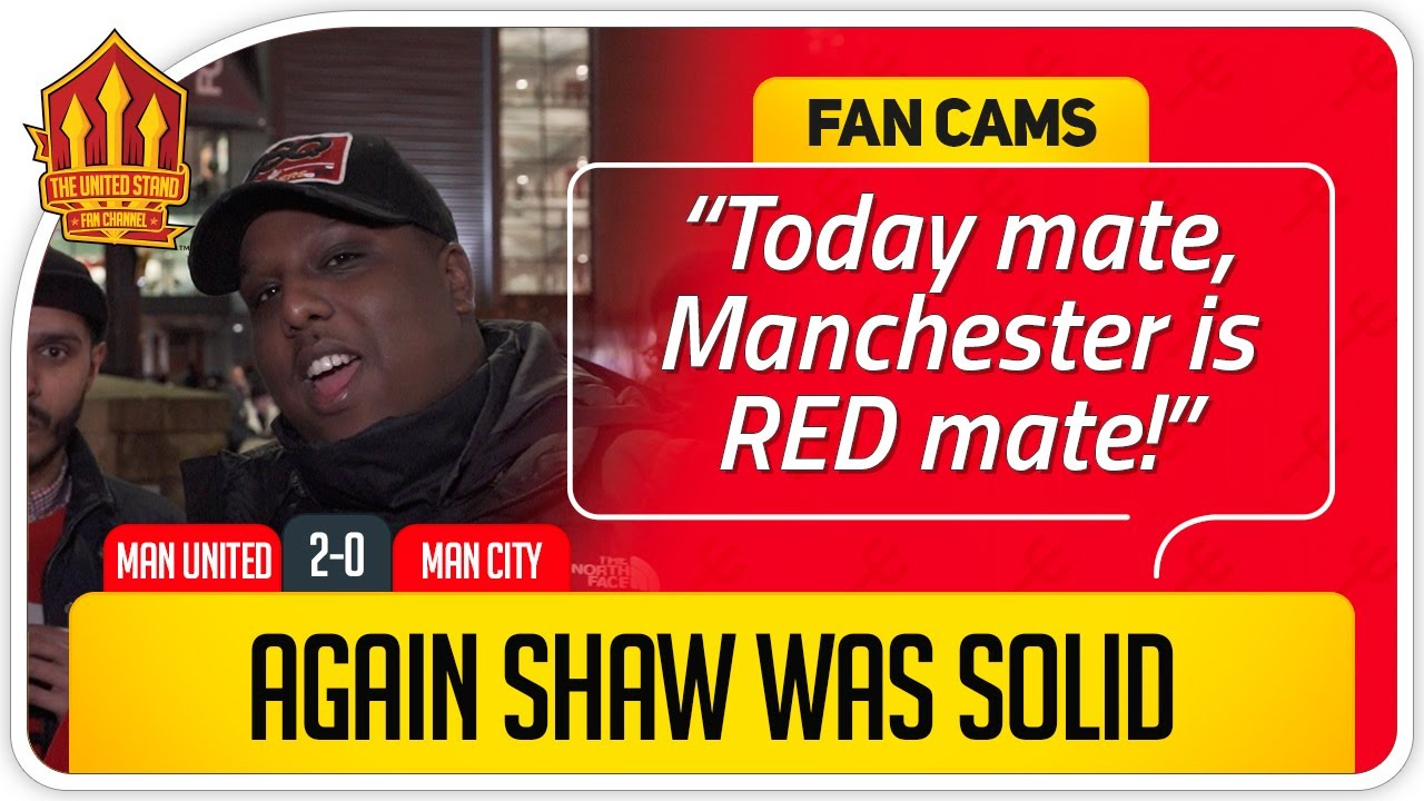 SAEED! SOLSKJÆR SPOT ON TONIGHT! Manchester United 2-0 Manchester City Fan Cam