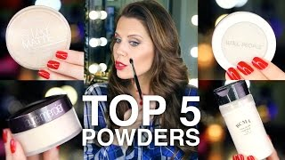 TOP 5 FAVORITE POWDERS | GlamLifeGuru