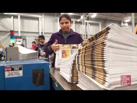 Behind-the-scenes into how The Globe and Mail newspaper gets made