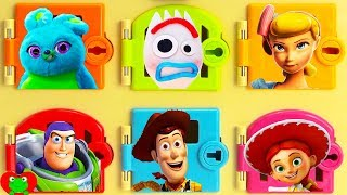 Toy Story 4 Trapped Rescue Forky, Woody, and Learn Colors