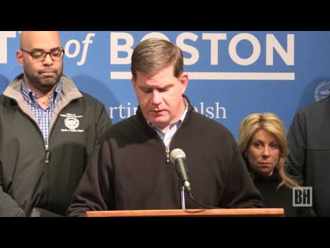 Mayor Walsh urges caution, cancels school as snow turns to sleet, rain