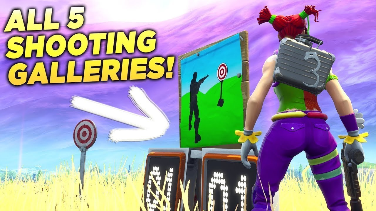 All 7 Shooting Gallery Locations Fortnite Fortnite Battle Royal
