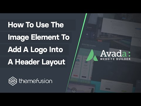 How To Use The Image Element To Add A Logo Into A Header Layout Video