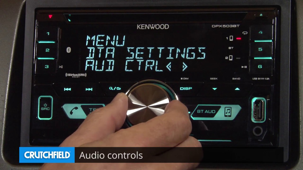 Kenwood DPX503BT Display and Controls Demo | Crutchfield Video on