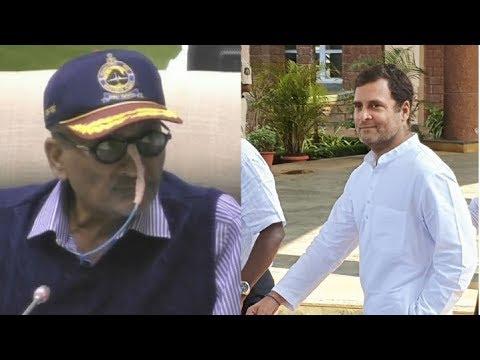 Manohar Parrikar reacts to Rahul Gandhi's Rafale deal talk