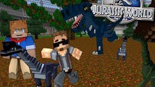 Minecraft Dinosaurs #23 - BABY BRACHIOSAUR vs T-REX? (Jurassic World Minecraft Roleplay)
