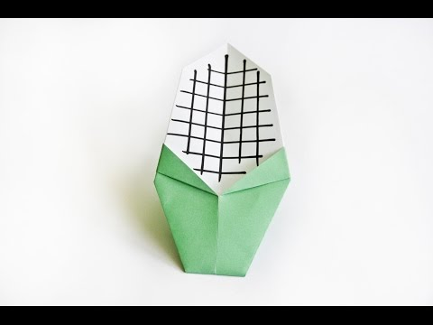 How to make a paper Sweet Corn    origami Vegetables    Easy origami