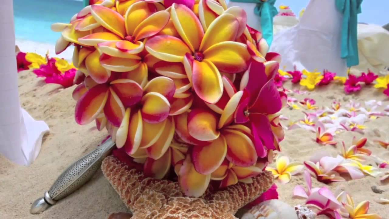 Colorful plumeria flowers bouquet with diamonds in hawaii youtube izmirmasajfo