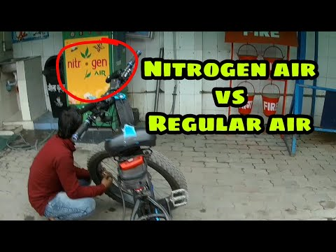Filling NITROGEN Air in Bicycle Tyre | Is it worth it?