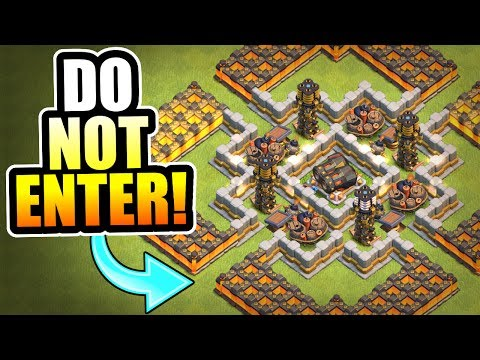"Thumbnail: ""PROTECT THE GEARED CANNON!"" TROLL BASE!! - Clash Of Clans MAX GEARED CANNON TROLLING!"