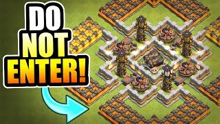 """PROTECT THE GEARED CANNON!"" TROLL BASE!! - Clash Of Clans MAX GEARED CANNON TROLLING!"