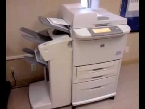 Hp Laserjet 9050 Demo Youtube