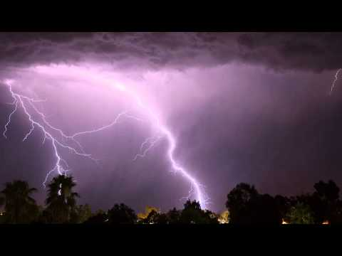 Thunderstorm 10 hours Rain Sound , Storm and Thunder in Summer Night [ Sleep Music ]
