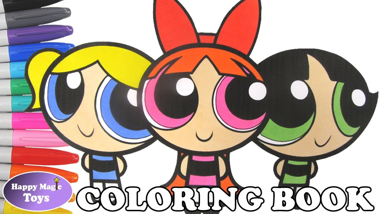 The Powerpuff Girls Coloring Book Blossom Bubbles Buttercup Coloring ...