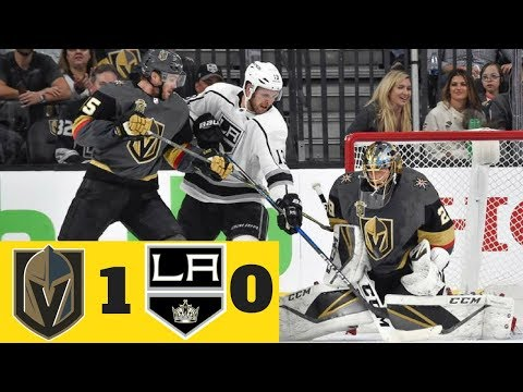 Las Vegas Golden Knights vs Los Angeles Kings l Vegas' First Playoff Game l VGK win 1-0