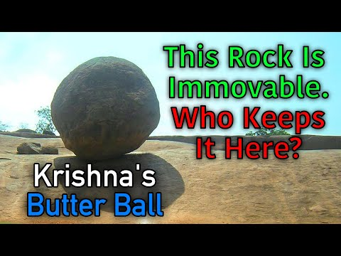 Krishna's Butter Ball  Ancient Aliens In India?