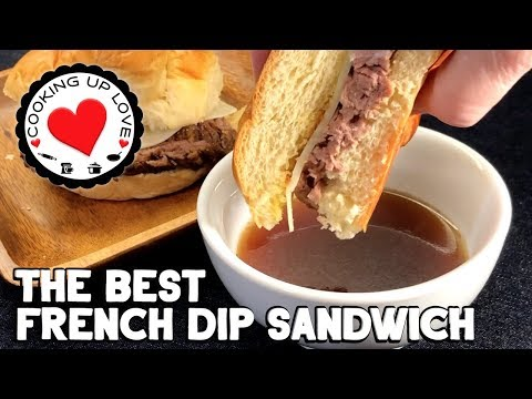 French Dip Slow Cooker Recipe 😋with Au Jus | Potluck Recipes | Cooking Up Love