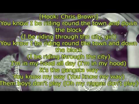 Chris Brown - Gangsta Way Explicit ft. French Montana Lyrics