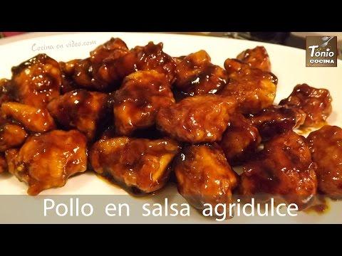pollo agridulce estilo chino casero