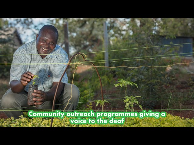How planting trees by this organization in Embu gave a voice to the deaf