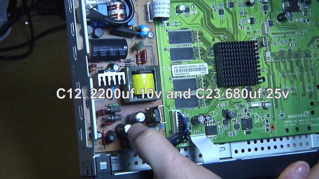 Humax satellite receiver repair - FREESAT HD