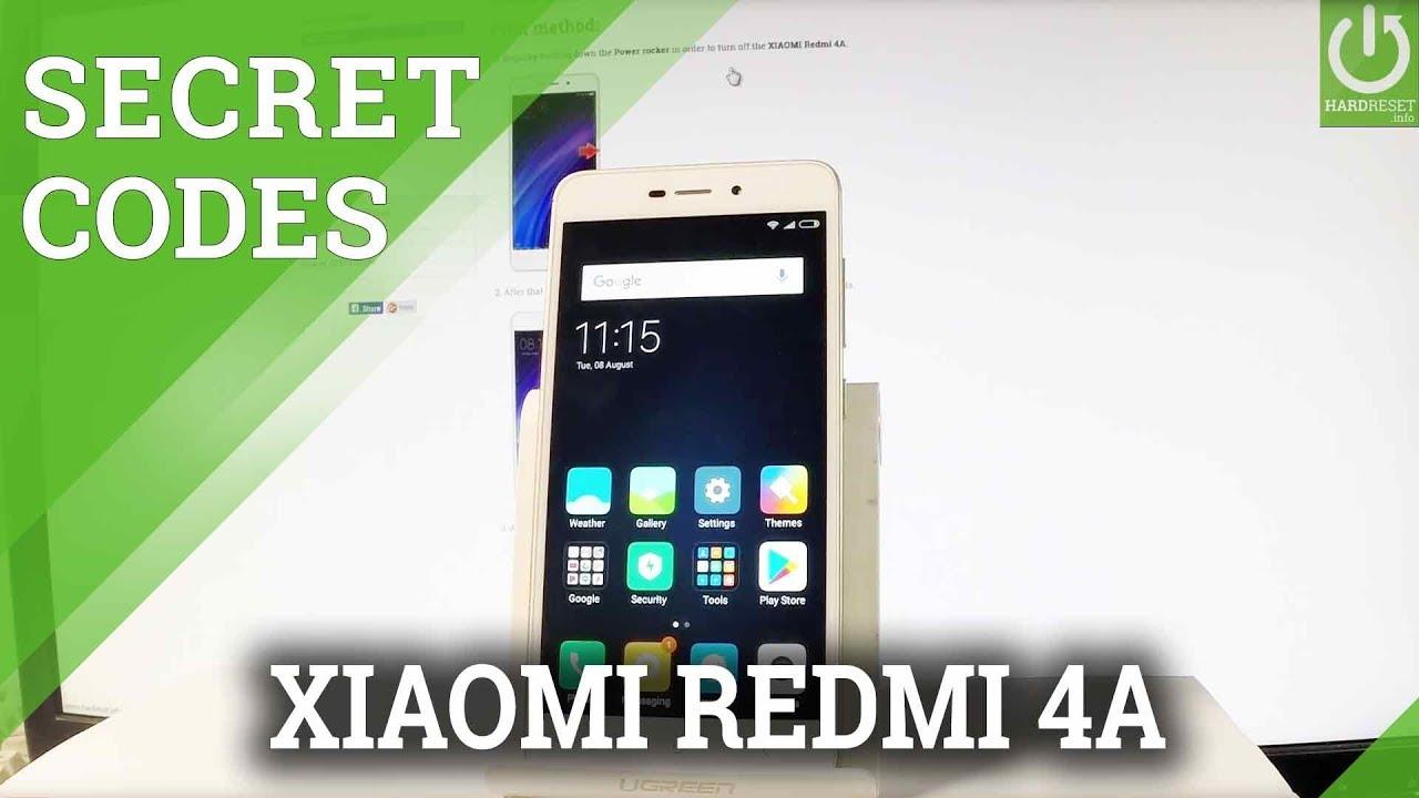 Codes XIAOMI Redmi 4A - HardReset info