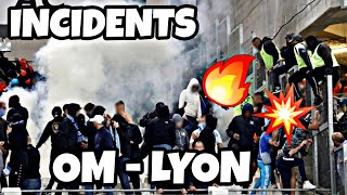 INCIDENTS (HEURTS) APRÈS LE MATCH OM OL SUPPORTERS ET POLICE CRS